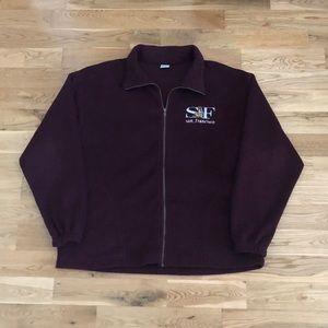 Vintage 90's San Francisco Fleece Zip-Up Sweater